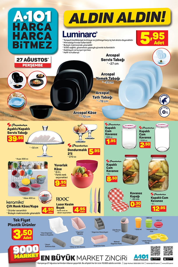 A101 Market 27 Ağustos 2020 Mutfak Ürünleri Kataloğu