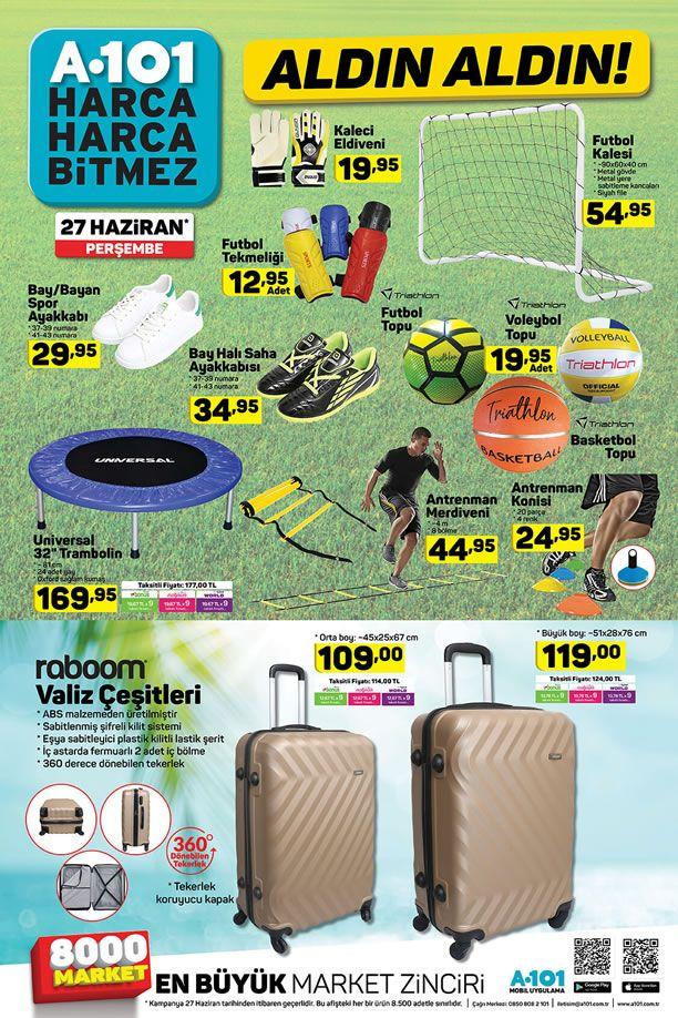 A101 Market 27 Haziran 2019 Kataloğu - Spor Malzemeleri