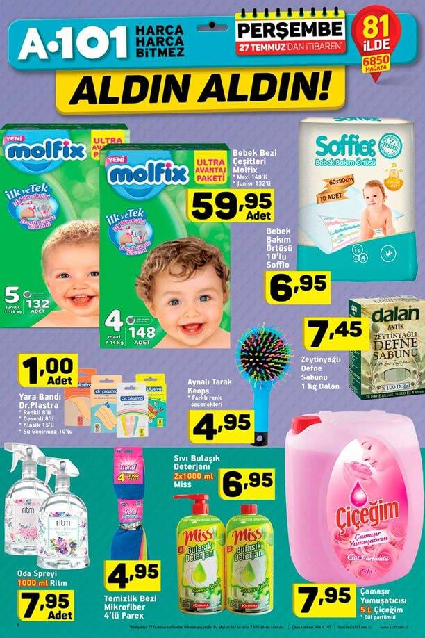 A101 Market 27 Temmuz - Molfix Bebek Bezi