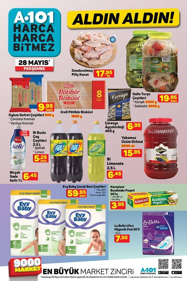 A101 Market 28 Mayıs 2020 İndirimli Ürünler Kataloğu