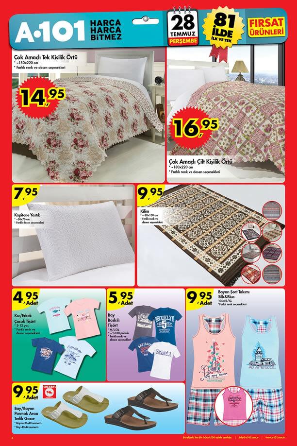 A101 Market 28 Temmuz 2016 Katalogu - Çok Amaçlı Örtü