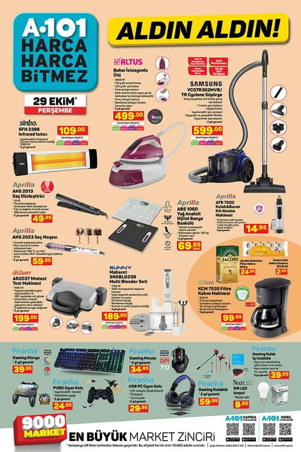 A101 Market 29 Ekim 2020 Kataloğu - Altus Buhar İstasyonlu Ütü