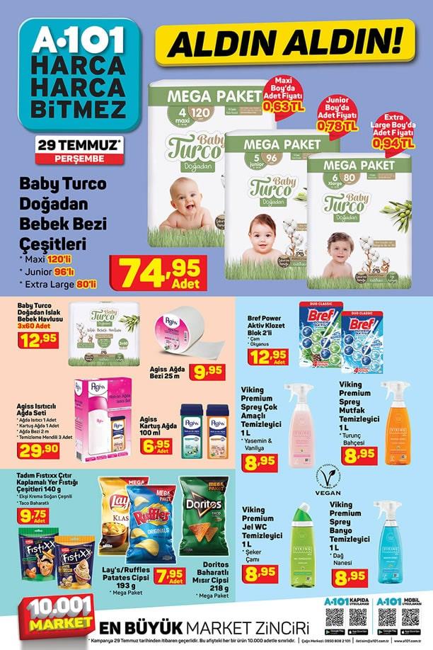 A101 Market 29 Temmuz 2021 Fırsat Ürünleri Kataloğu