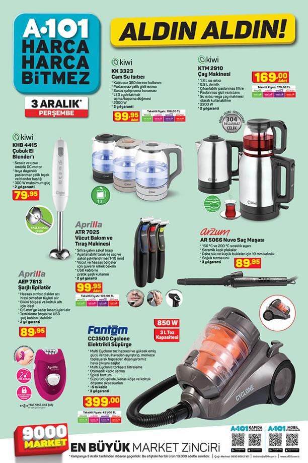 A101 Market 3 Aralık 2020 Kataloğu - Kiwi Çay Makinesi