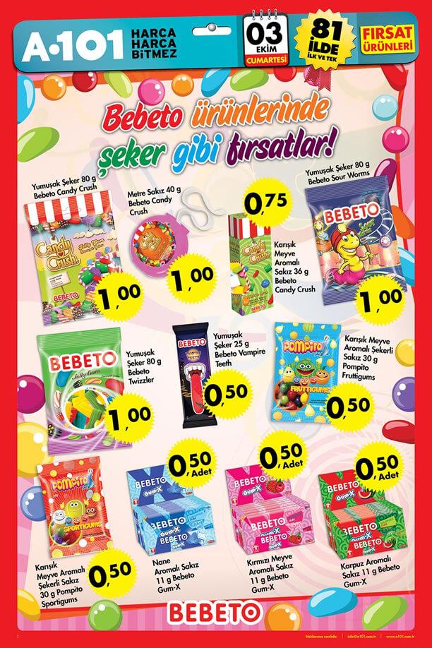 A101 Market 3 Ekim 2015 Fırsat Ürünleri - Bebeto