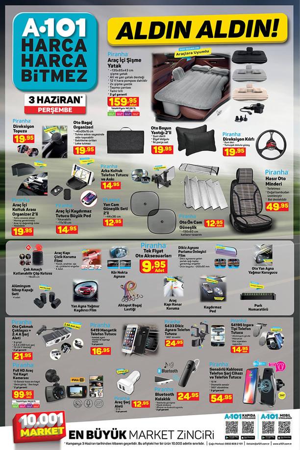 A101 Market 3 Haziran 2021 Aktüel Kataloğu - Araba Ürünleri