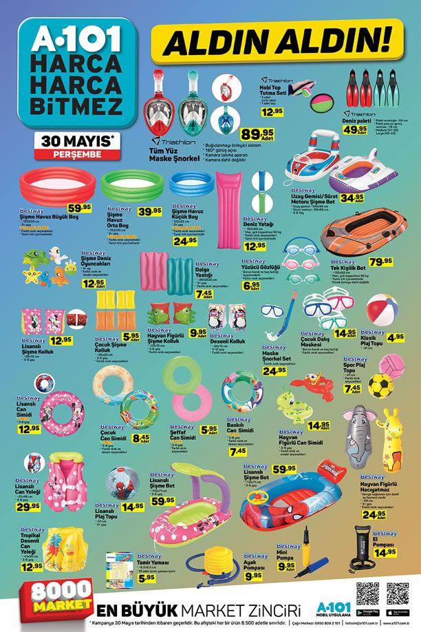 A101 Market 30 Mayıs 2019 Kataloğu - Deniz ve Plaj Ürünleri