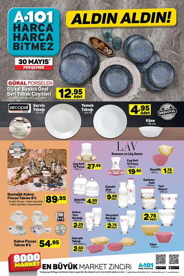 A101 Market 30 Mayıs 2019 Kataloğu - Nostaljik Kahve Fincan Takımı