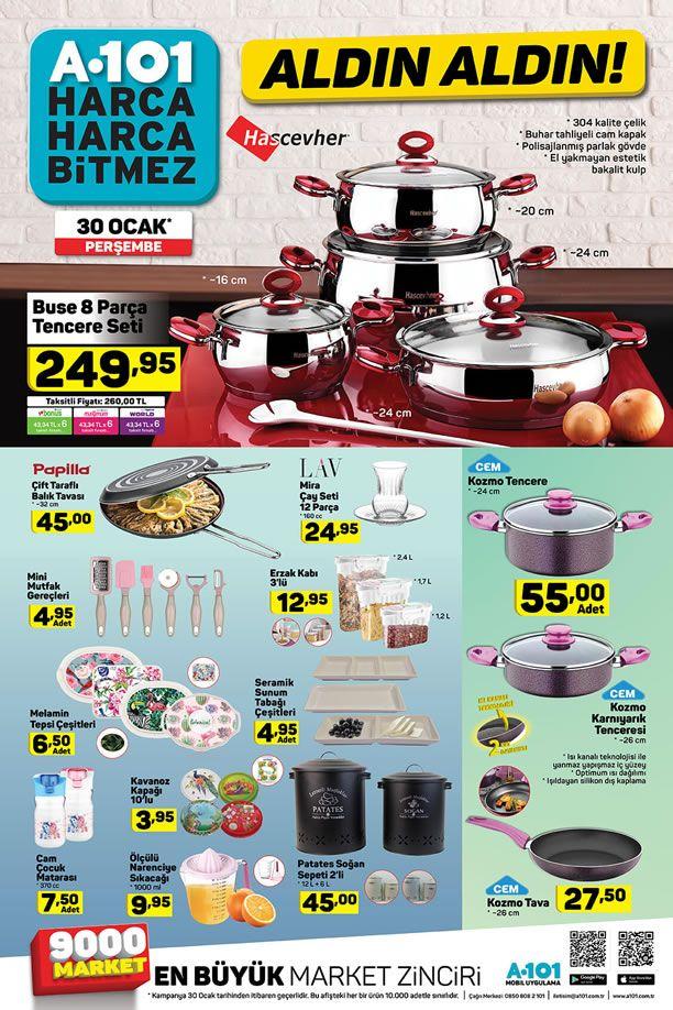 A101 Market 30 Ocak 2020 Kataloğu - Mutfak Ürünleri