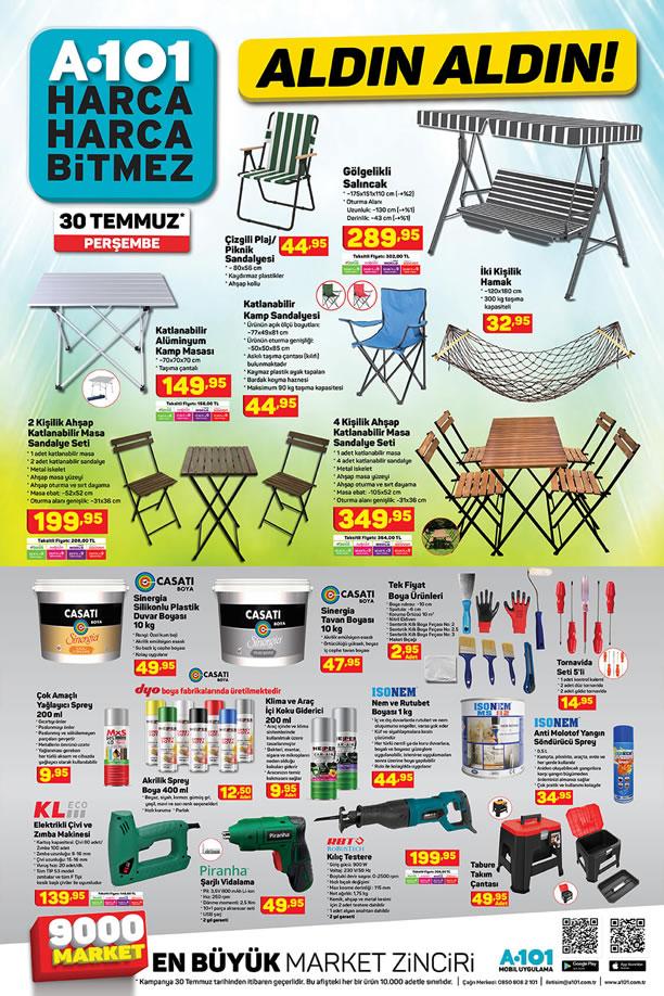 A101 Market 30 Temmuz 2020 Perşembe - Kamp Sandalyesi