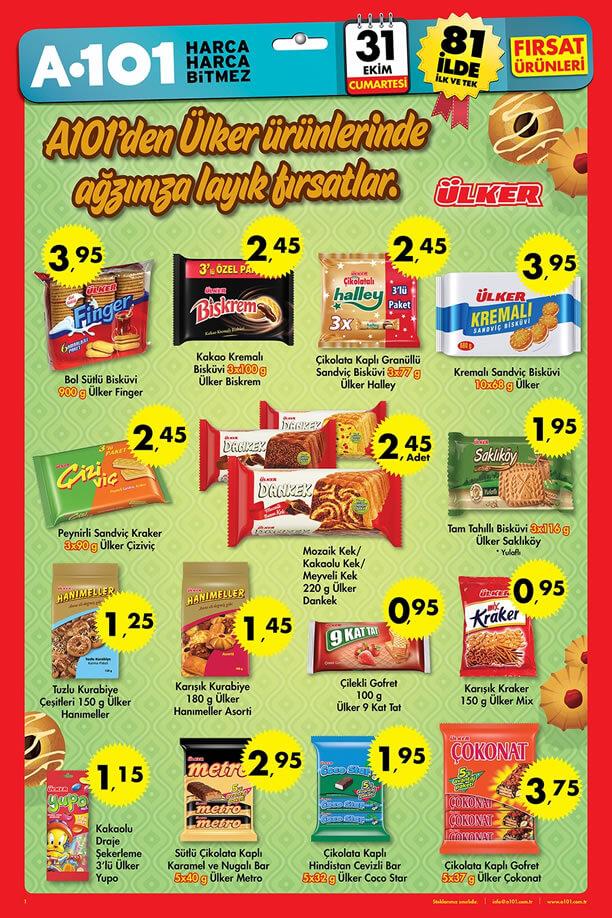 A101 Market 31 Ekim 2015 Fırsat Ürünleri Broşürü - Ülker
