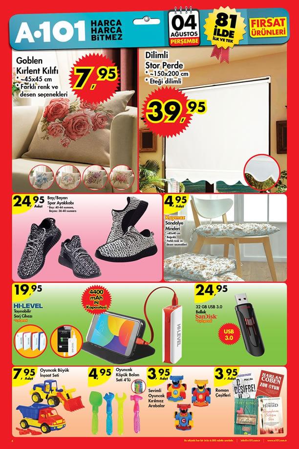 A101 Market 4 Ağustos 2016 Katalogu - Dilimli Stor Perde