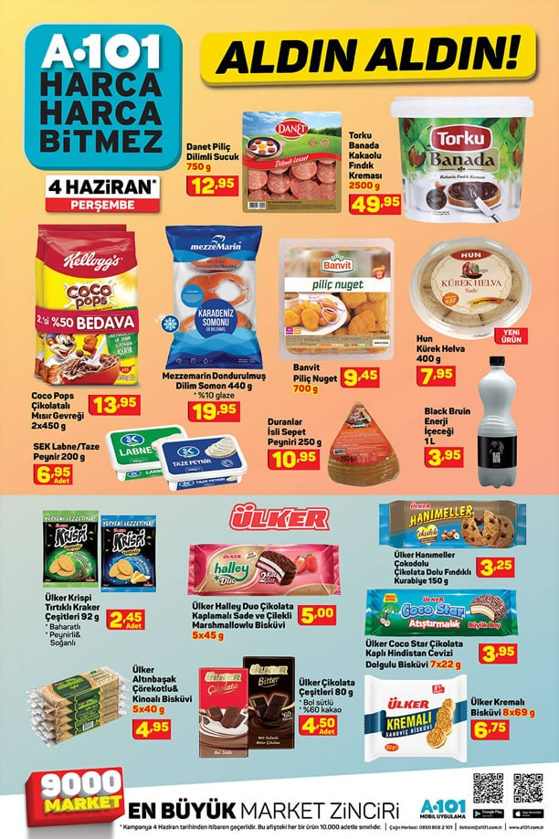 A101 Market 4 Haziran 2020 İndirimli Ürünler Listesi