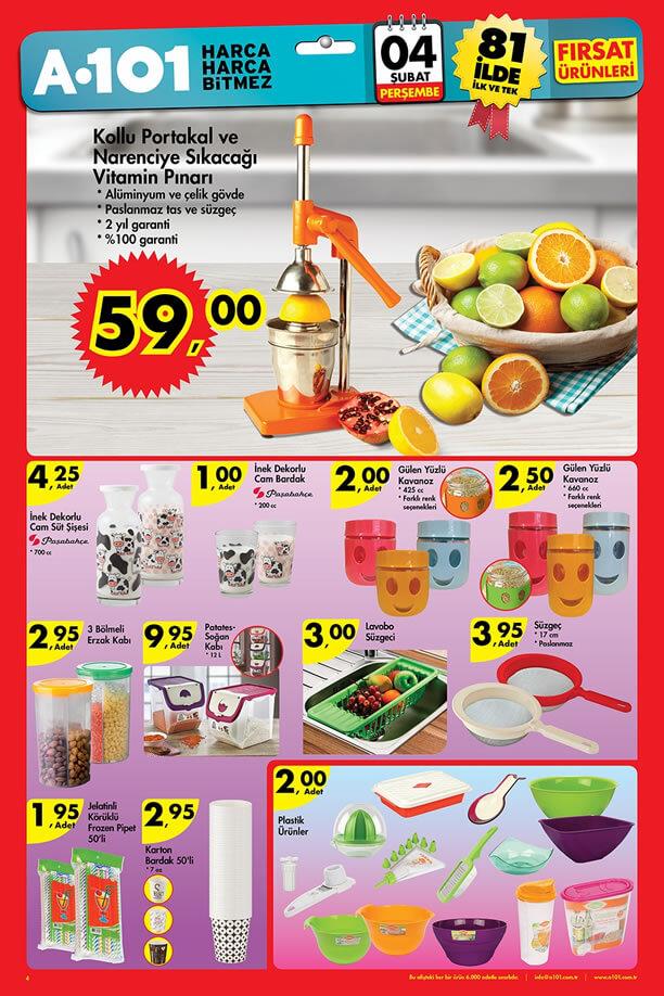 A101 Market 4 Şubat 2016 Fırsatları - Vitamin Pınarı