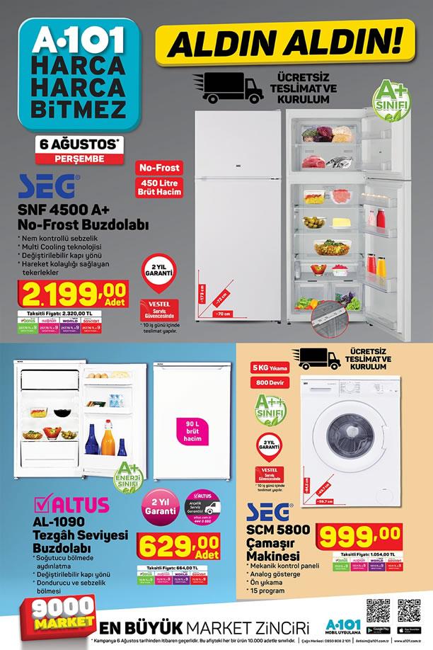A101 Market 6 Ağustos 2020 Kataloğu - SEg No-Frost Buzdolabı