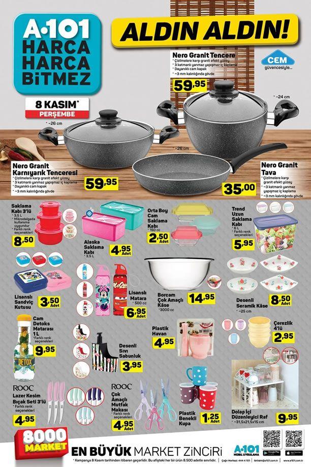 A101 Market 8 Kasım 2018 Fırsatları - Mutfak Ürünleri