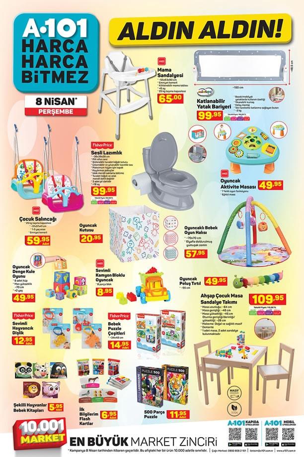 A101 Market 8 Nisan 2021 Kataloğu - Mama Sandalyesi