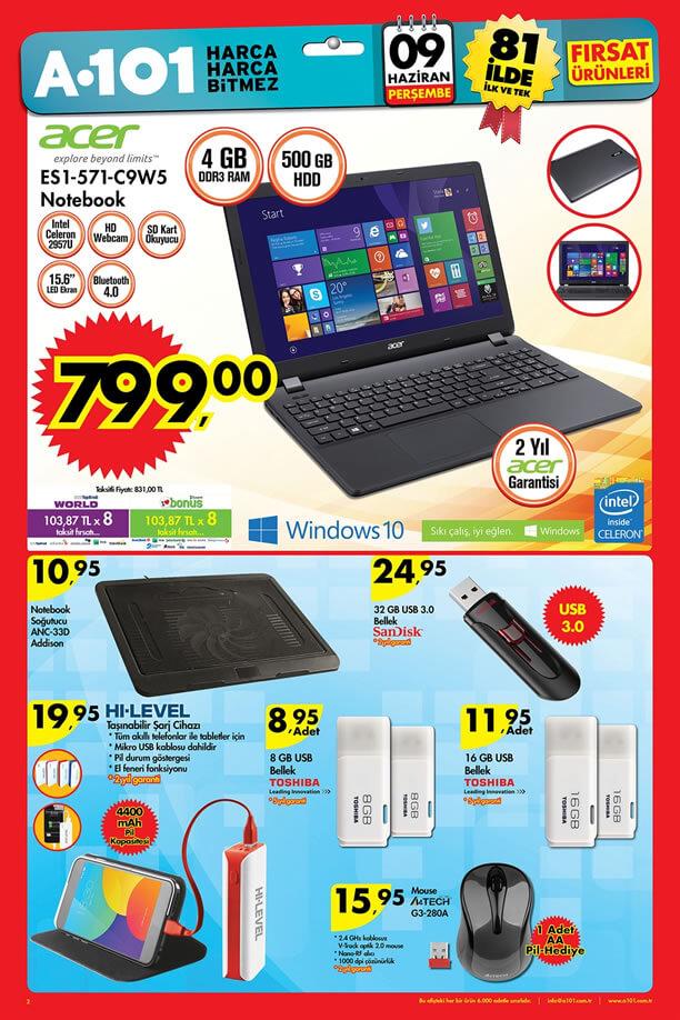 A101 Market 9 Haziran 2016 Katalogu - Acer S1-571-C9W5 Notebook