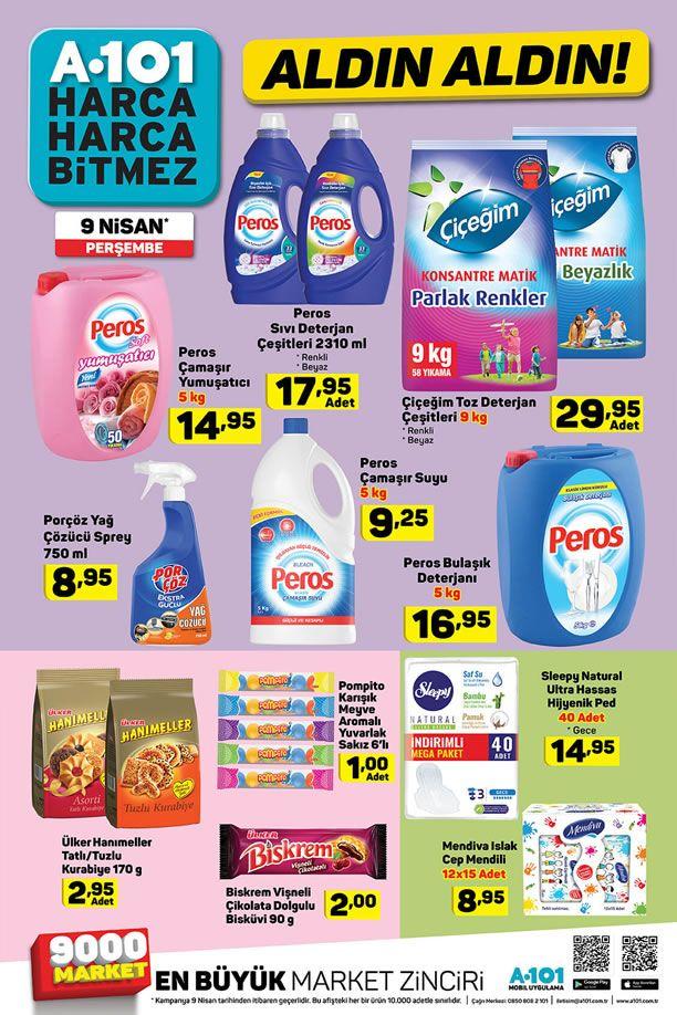 A101 Market 9 Nisan 2020 İndirimli Ürünler Listesi