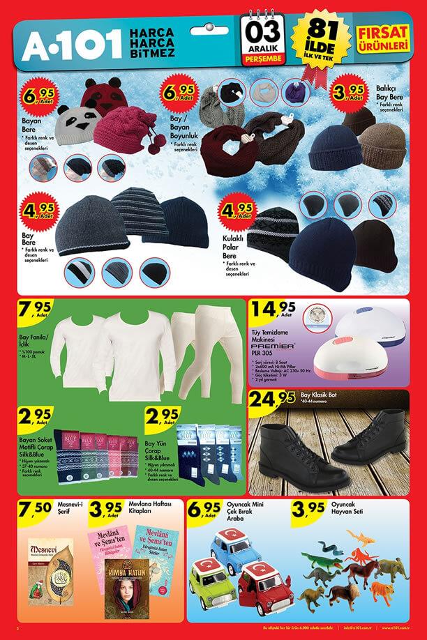 A101 Market Aktüel Ürünler 3 Aralık 2015 Broşürü - Bere