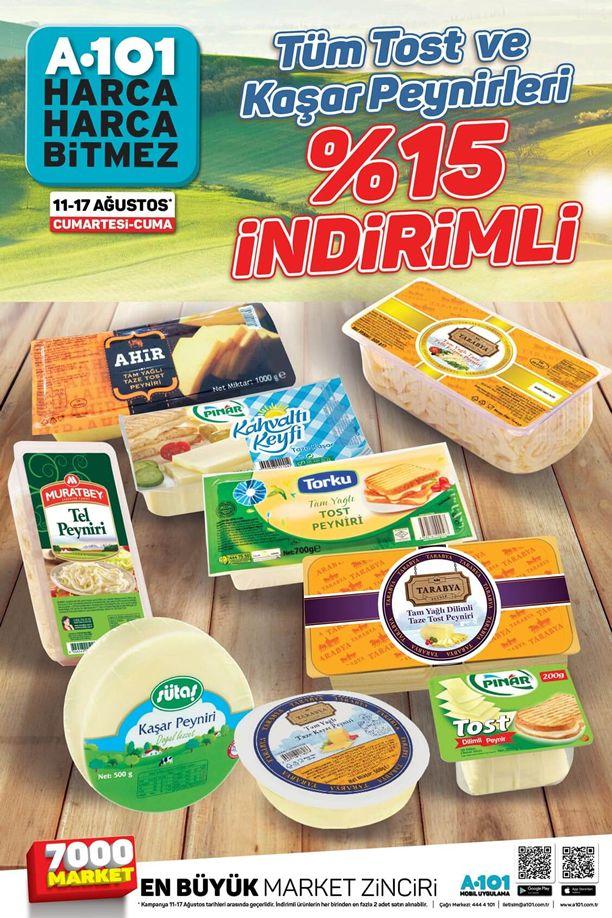 A101 Market Tost ve Kaşar Peyniri İndirim Fırsatı - 11 Ağustos 2018