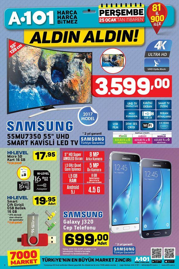 A101 Telefon Kampanyası 25.01.2018 Perşembe - Samsung J320