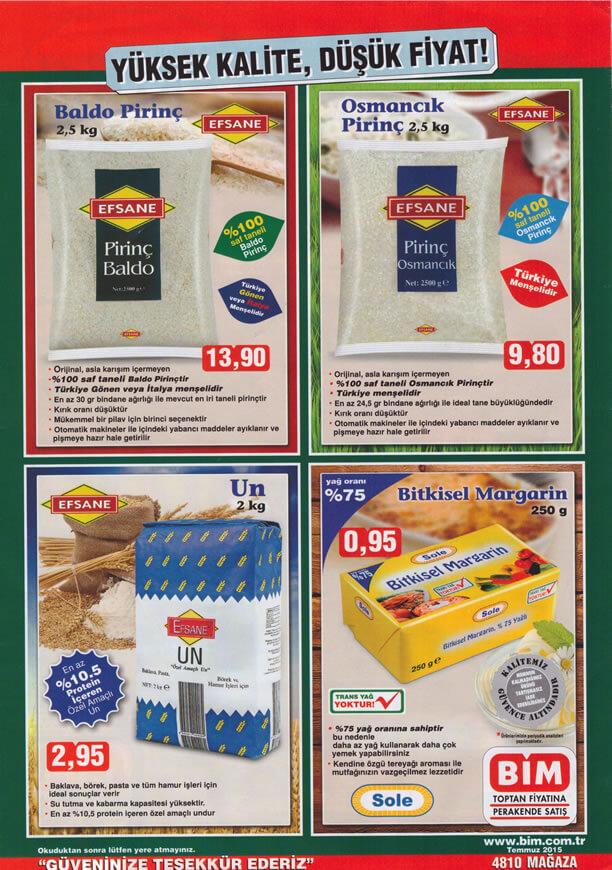 BİM 10 Temmuz 2015 Aktüel Ürünler Katalogu - Pirinç