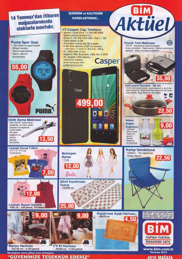 BİM 14 Temmuz 2015 Aktüel Ürünler Katalogu - Casper V3