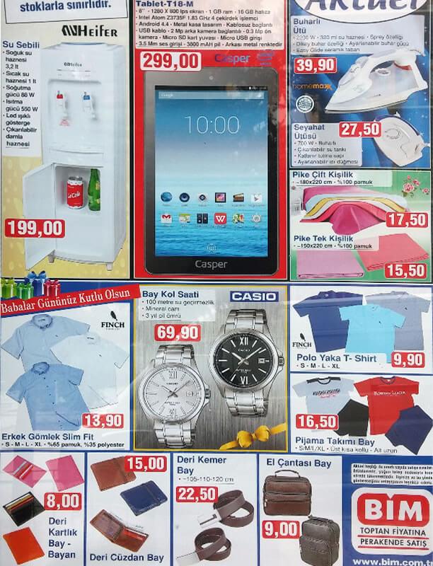 BİM 19 - 26 Haziran 2015 Aktüel Ürünler - Casper Tablet - Su Sebili