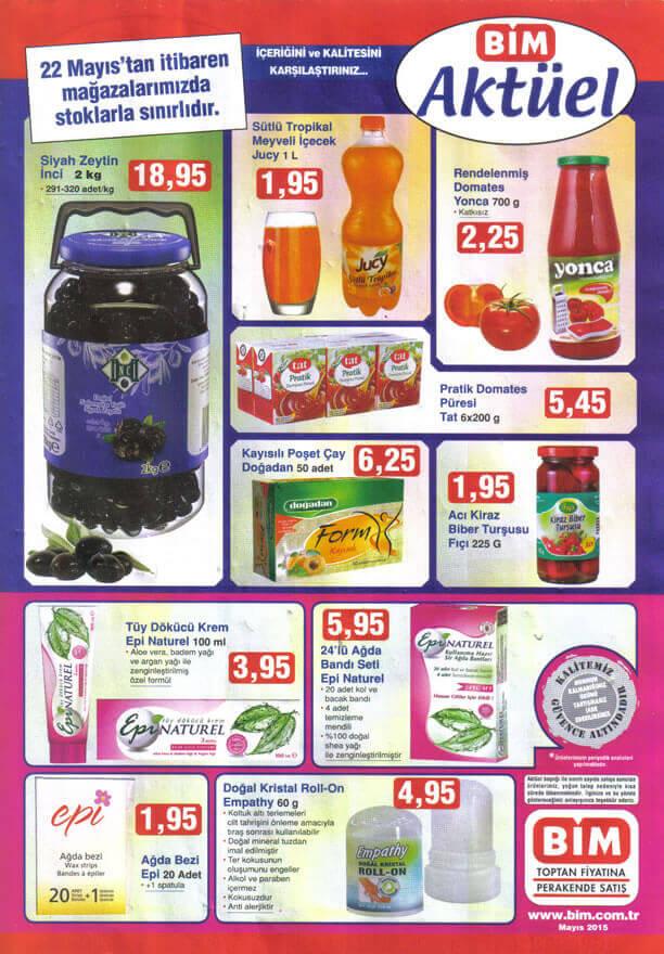 BİM 22 Mayıs 2015 Aktüel Ürünler Katalogu  - İnci Siyah Zeytin