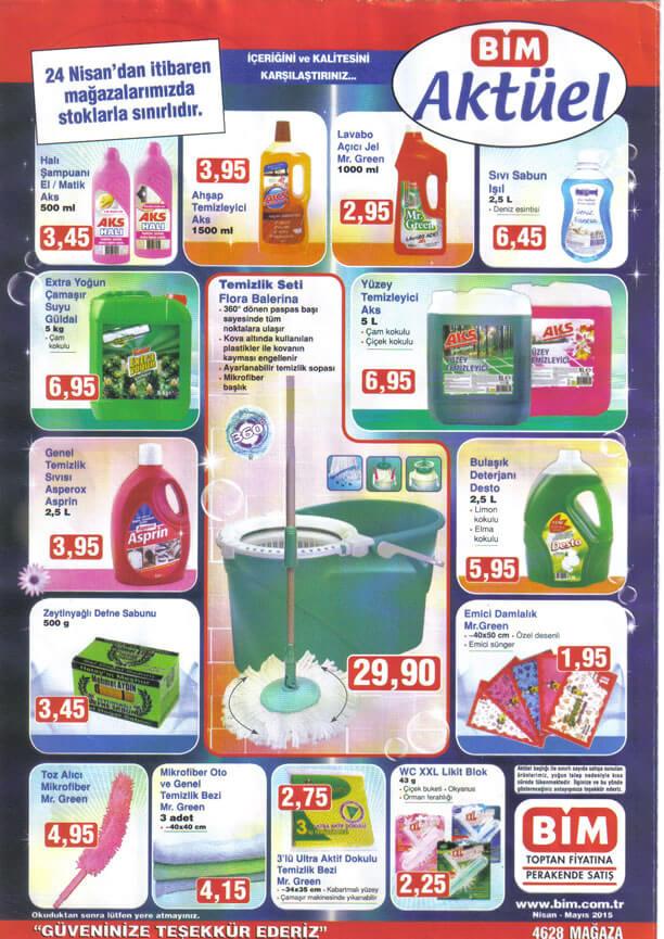 Bim 24 Nisan 2015 Aktüel Ürünler Kataloğu - Temizlik Ürünleri