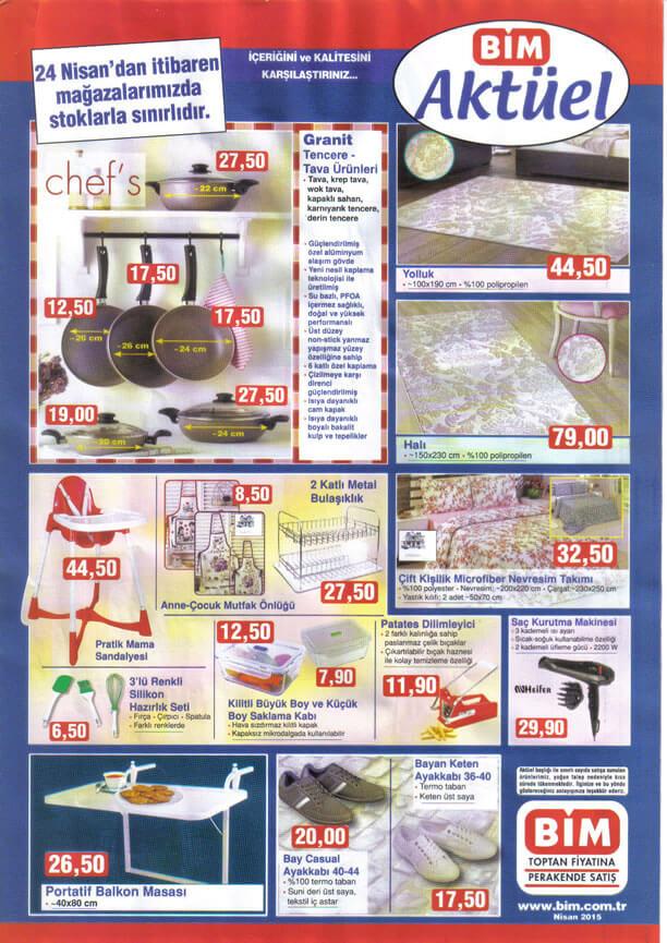 BİM 24 Nisan 2015 Cuma Aktüel Ürünler Katalogu