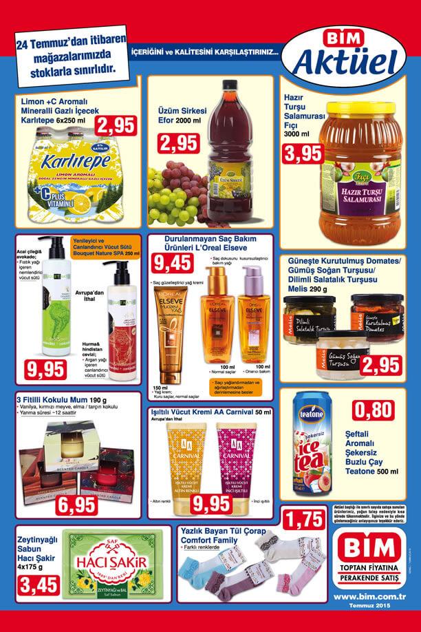 BİM 24 Temmuz 2015 Aktüel Ürünler Kataloğu - L'Oreal Elseve