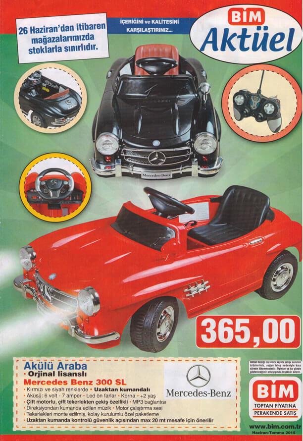 BİM 26 Haziran 2015 Aktüel Ürünler Katalogu - Akülü Araba