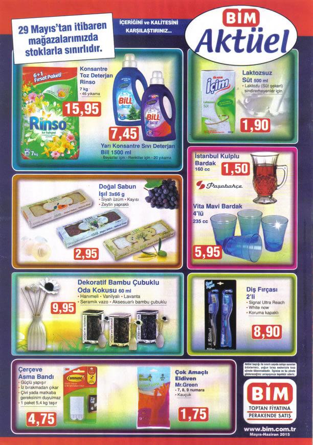 Bim 29.05.2015 Aktüel Ürünler Katalogu - Rinso