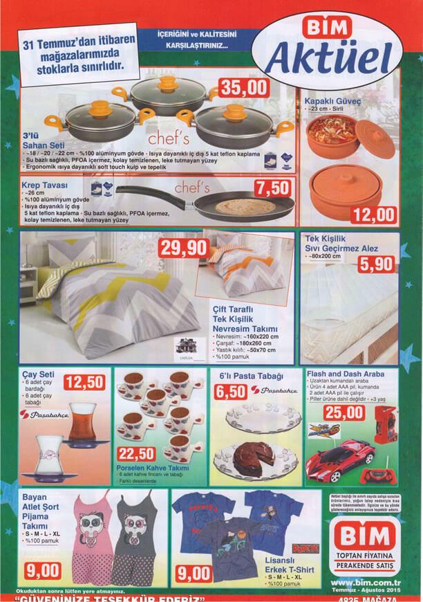 BİM 31 Temmuz 2015 Aktüel Ürünler Katalogu - Chef's Sahan Seti