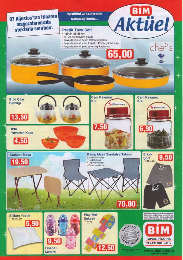 BİM 7 Ağustos 2015 Aktüel Ürünler Katalogu - Chef's Pratik Tava Seti