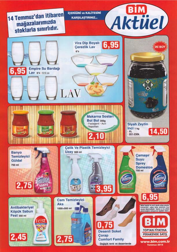 BİM Market 14 Temmuz 2015 Aktüel Ürünler Katalogu