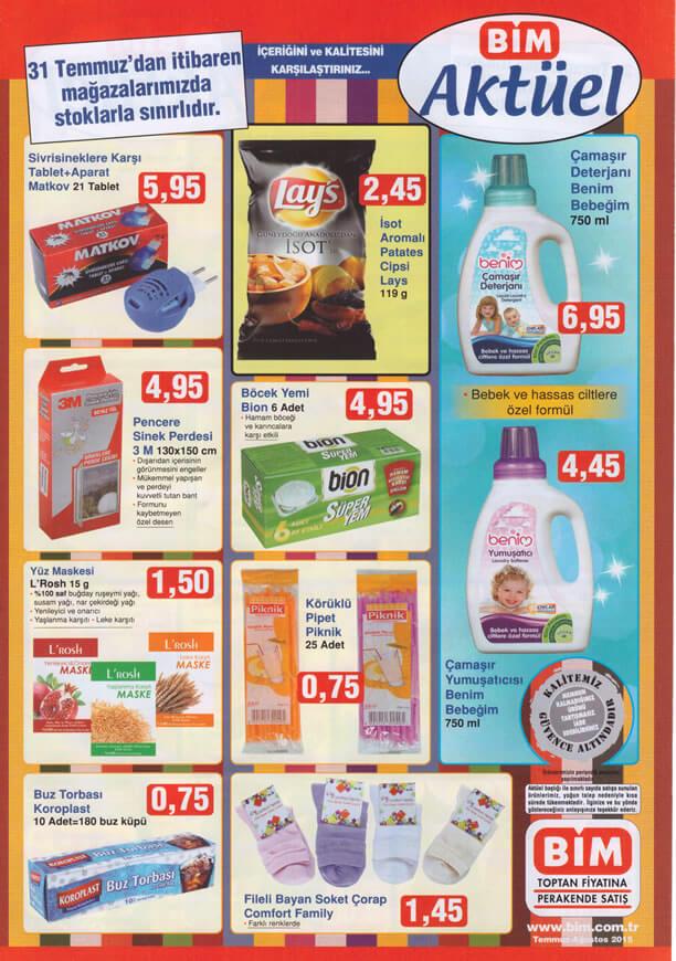 BİM Market 31.07.2015 Aktüel Ürünler Kataloğu - Matkov