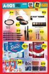 A101 1 Ekim 2015 Fırsat Ürünleri Broşürü - Kozmetik Ürünleri