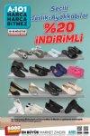 A101 10-16 Ağustos 2019 - Seçili Terlik-Ayakkabılar %20 İndirimli