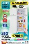 A101 28 Kasım 2019 Fırsatları - SEG SNF 3700 A+ No Frost Buzdolabı