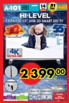 A101 Aktüel 14 Ocak 2016 Broşürü - HI-LEVEL 55UHL950 3D Smart Led Tv