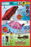 A101 Fırsatları 10 Mart 2016 Broşürü - Şemsiye
