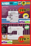 A101 Market 29 Ekim 2015 Broşürü - Singer Overlok Makinesi