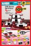 A101 Market 5 Ocak 2017 Katalogu - Hascevher Çelik Tencere Seti