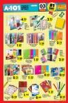 A101 Market Aktüel Ürünler 3 Eylül 2015 Katalogu - Okul Defteri