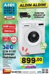 A101 SEG SCM 9100 Çamaşır Makinesi - 3 Mayıs 2018 Perşembe