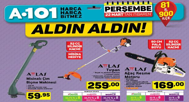 A101 22 Mart 2018 Aktüel Ürünler Kataloğu