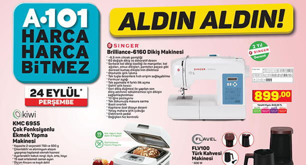 A101 24 Eylül 2020 Aktüel Ürünler Kataloğu
